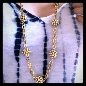 J. Crew gold and white necklace